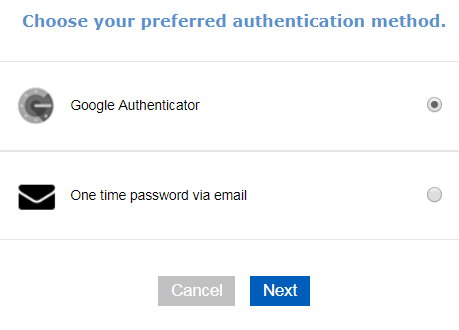 Set Up Two Factor Authentication